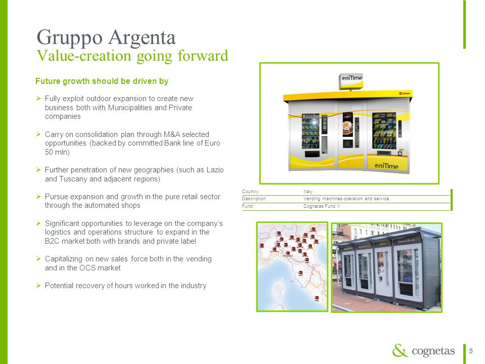 Gruppo Argenta Value-creation going forward