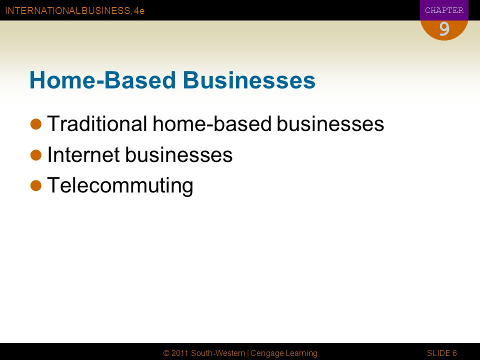 Home-Based Businesses