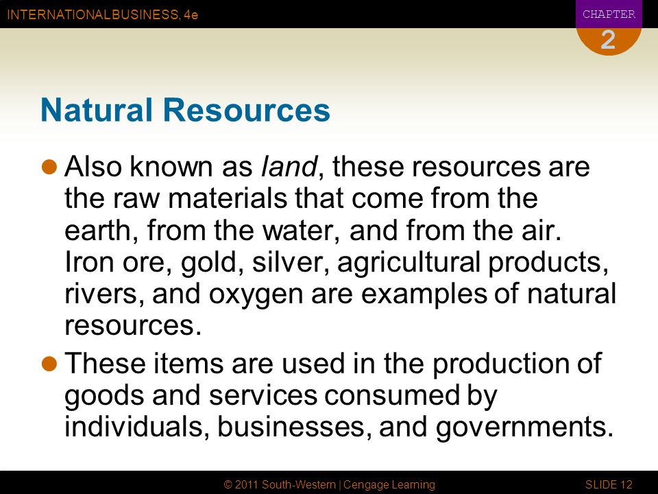 2 Natural Resources.