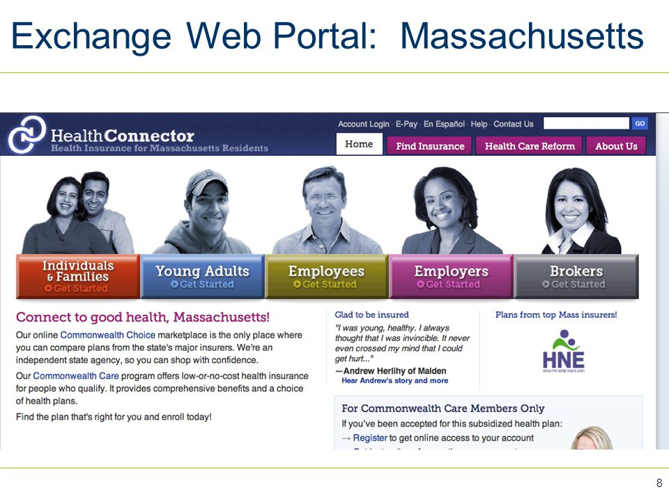 Exchange Web Portal: Massachusetts