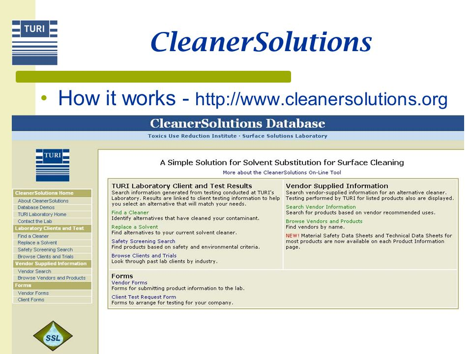 CleanerSolutions How it works - http://www.cleanersolutions.org