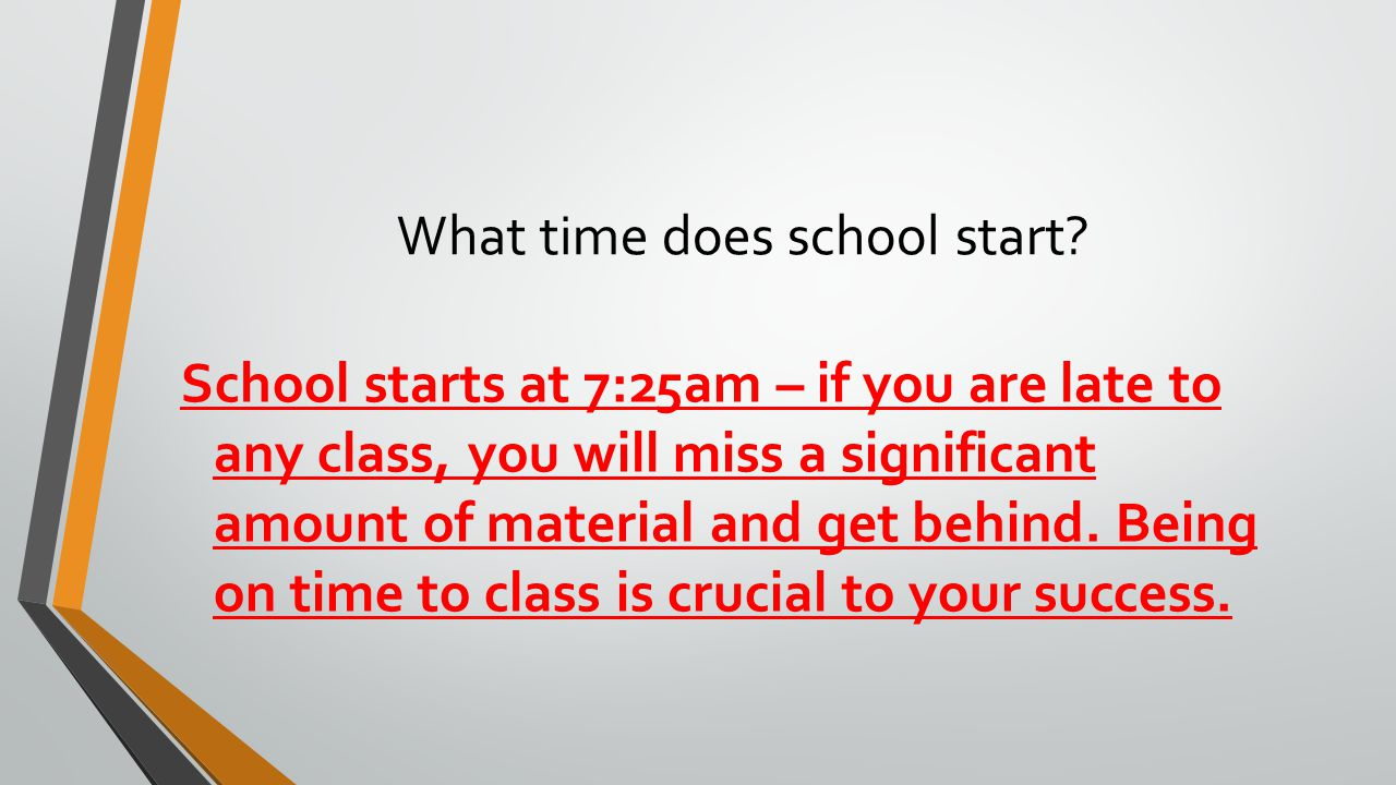 What time does school start