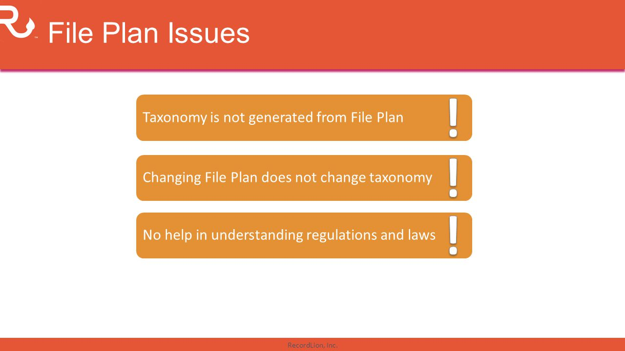 ! ! ! File Plan Issues Taxonomy is not generated from File Plan