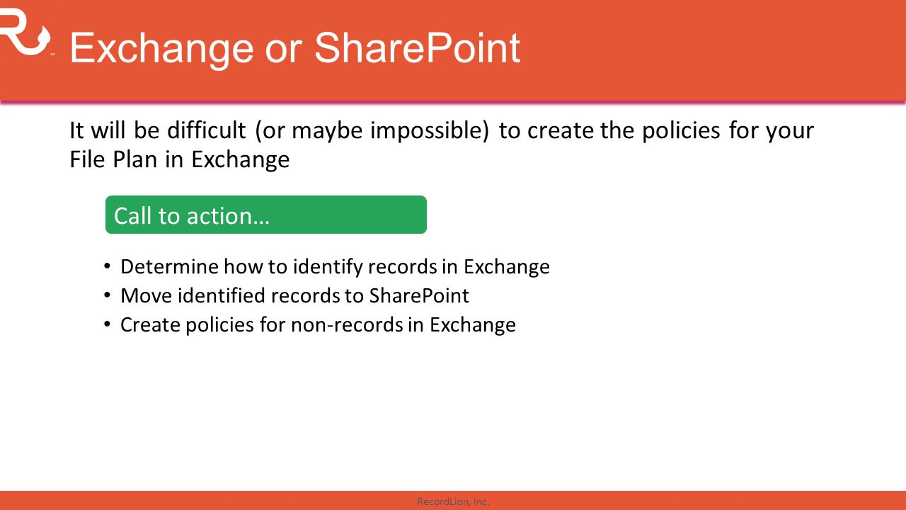 Exchange or SharePoint