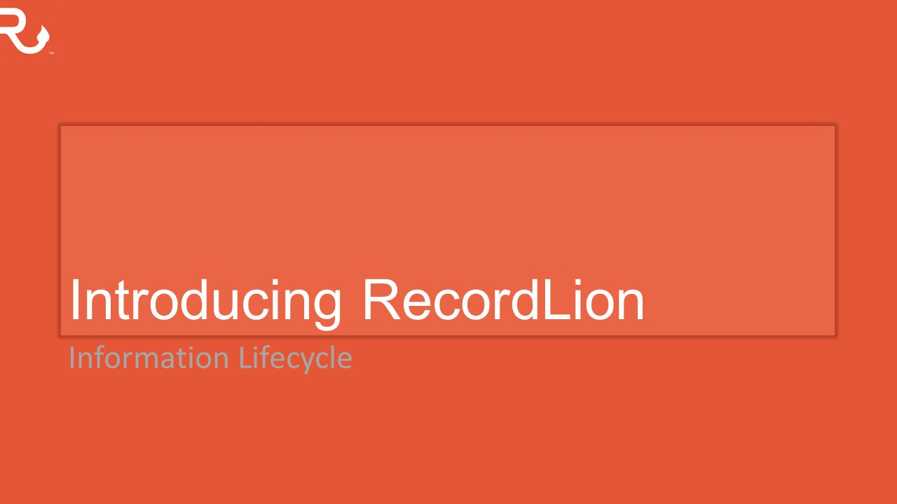 Introducing RecordLion