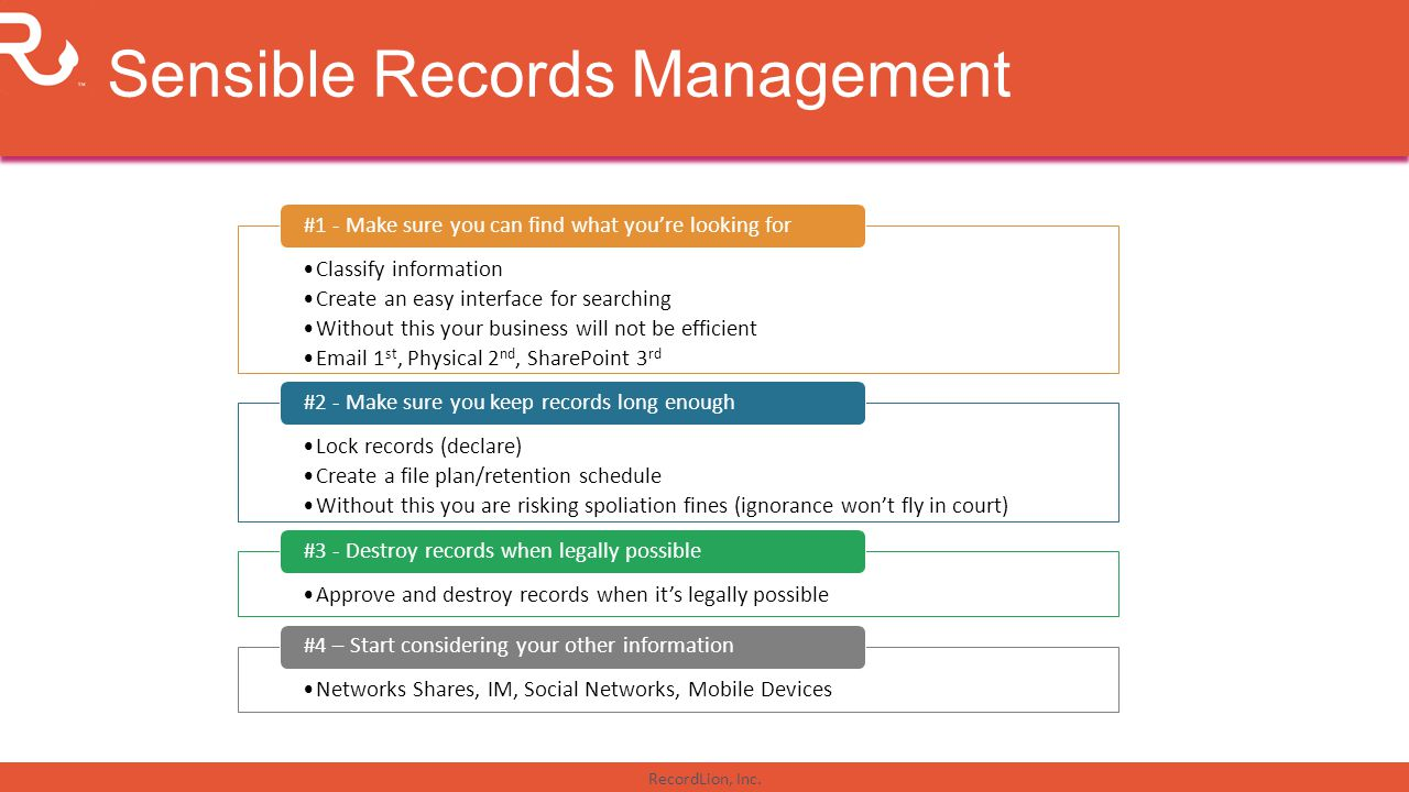 Sensible Records Management