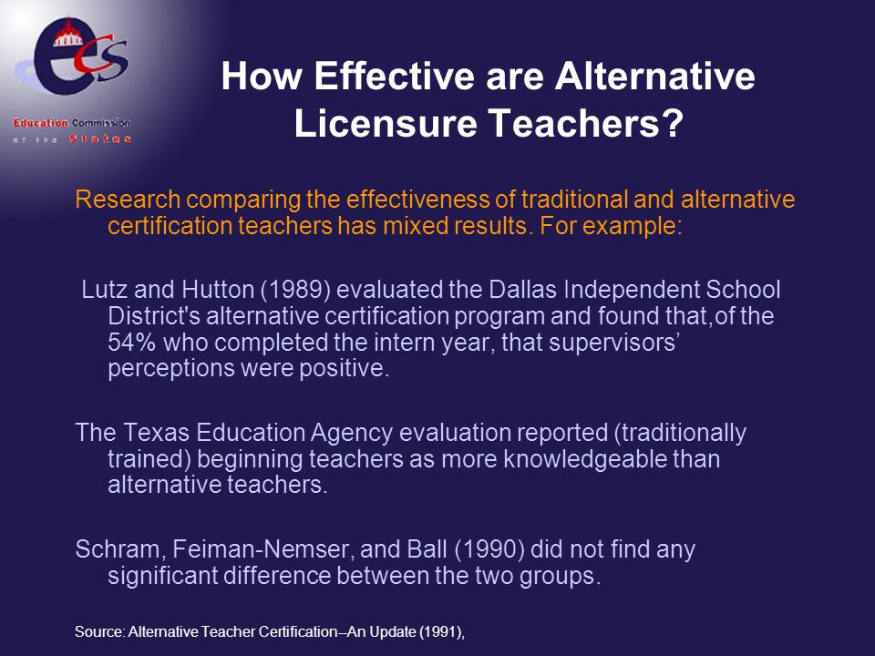 Alternative Certification: A National Perspective - ppt video online ...