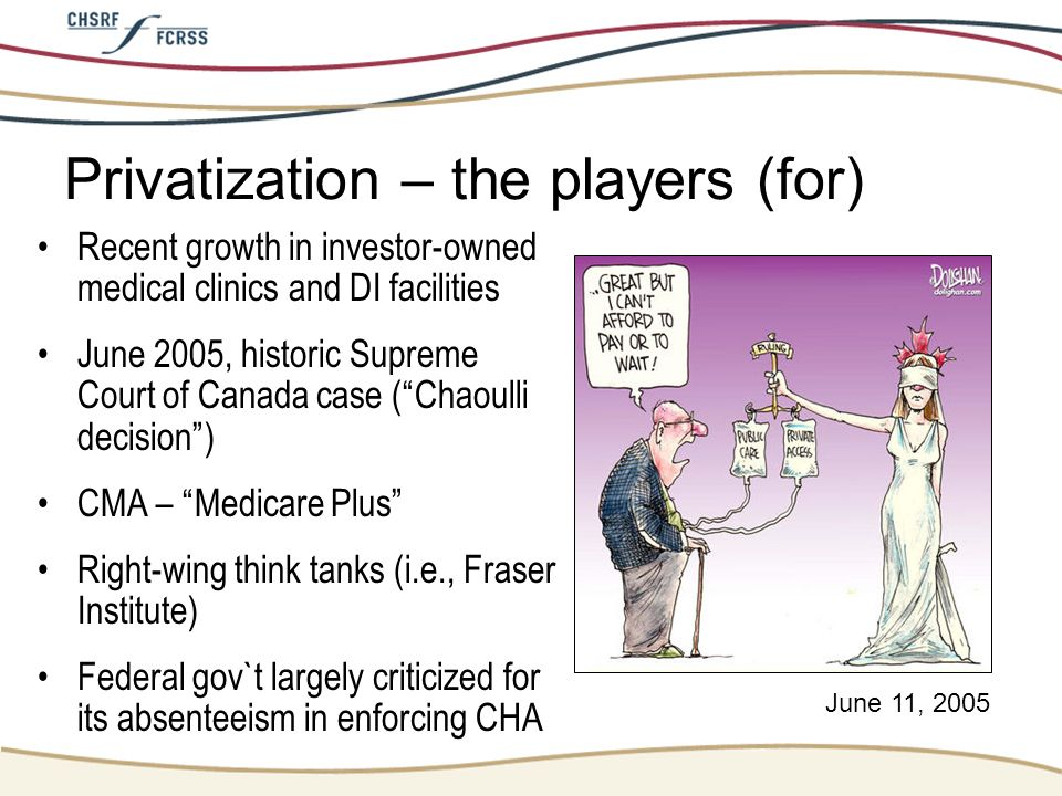 Privatization – the players (for)