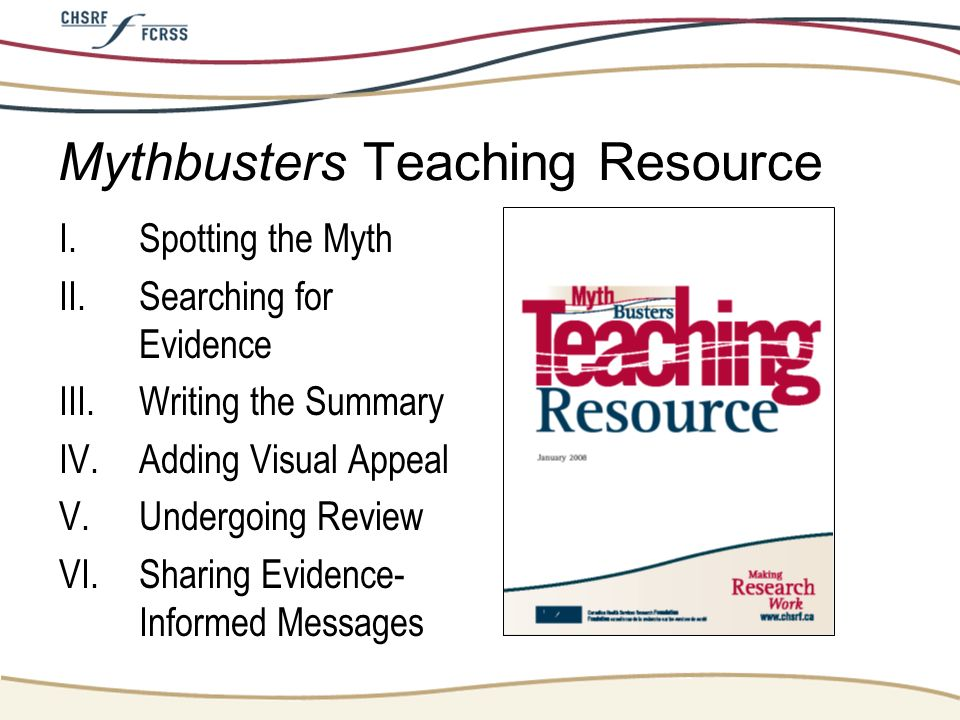Mythbusters Teaching Resource