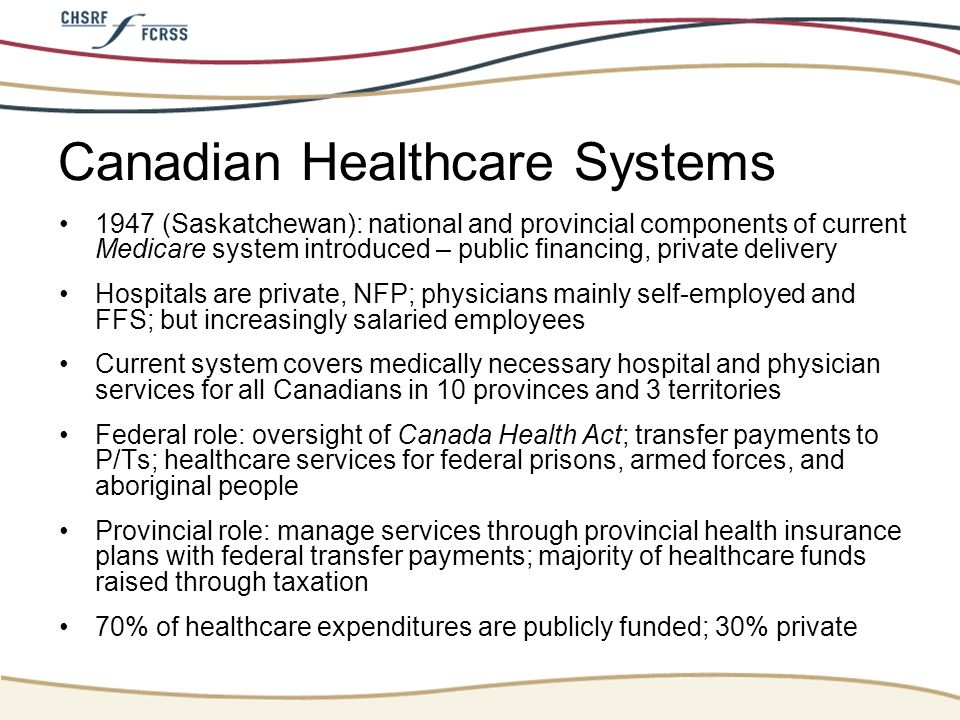 Canadian Healthcare Systems