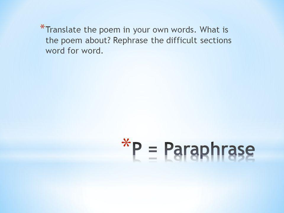 Translate the poem in your own words. What is the poem about