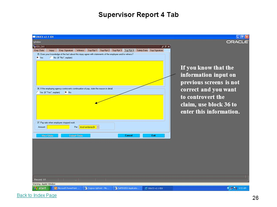 Supervisor Report 4 Tab