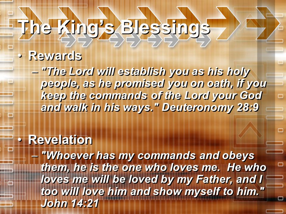 The King's Blessings Rewards Revelation