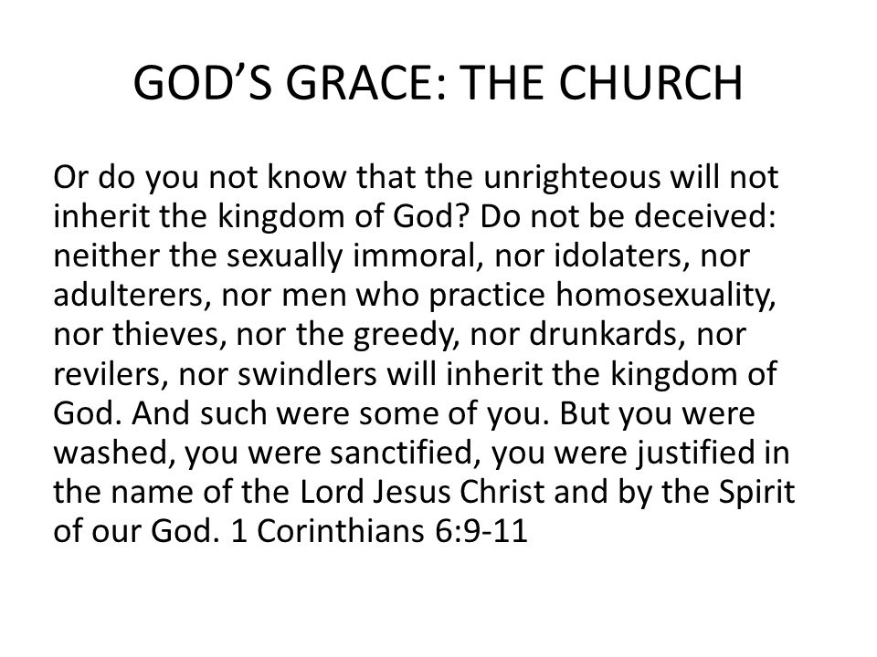 GOD'S GRACE: THE CHURCH