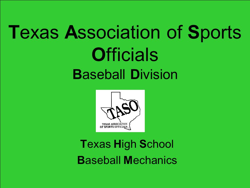 Texas Association of Sports Officials Baseball Division