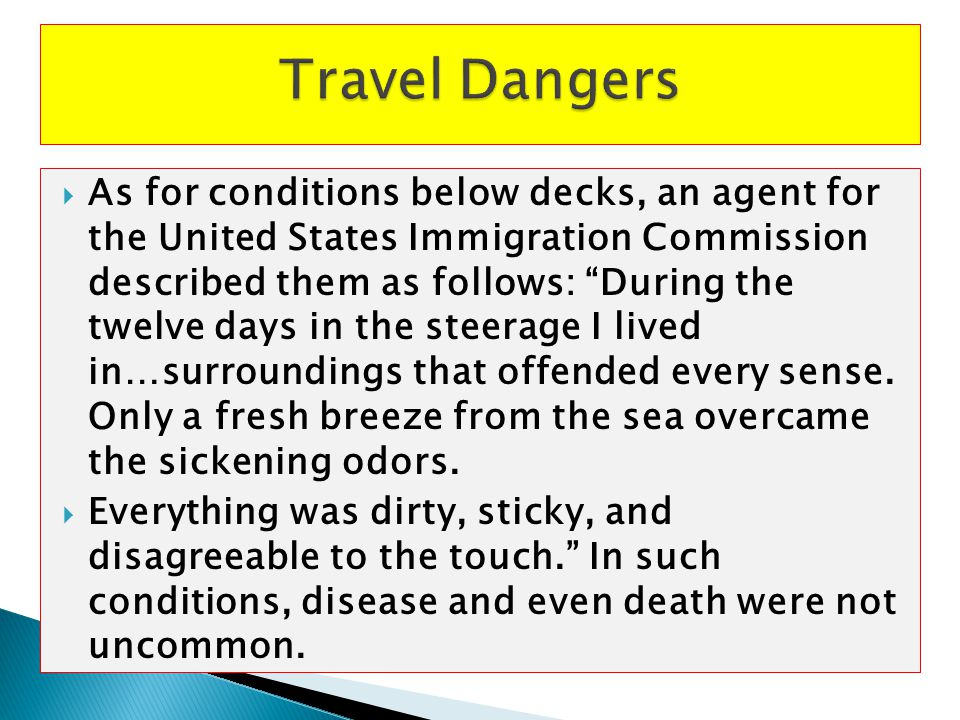 Travel Dangers