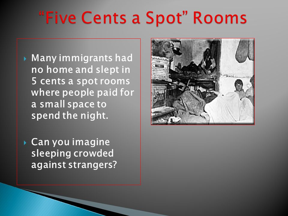 Five Cents a Spot Rooms