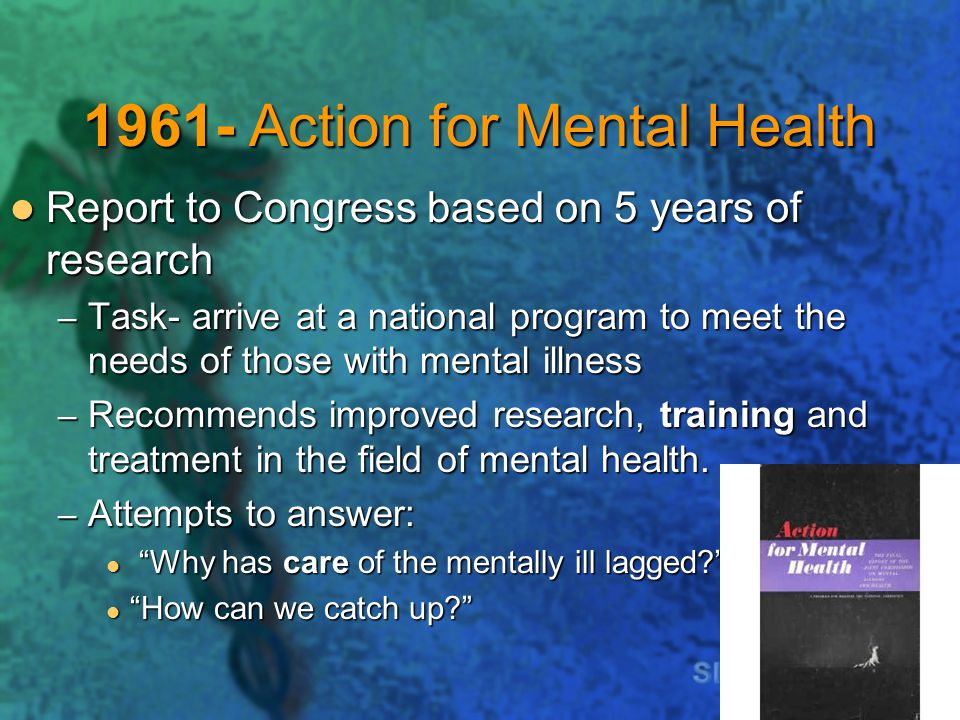 1961- Action for Mental Health