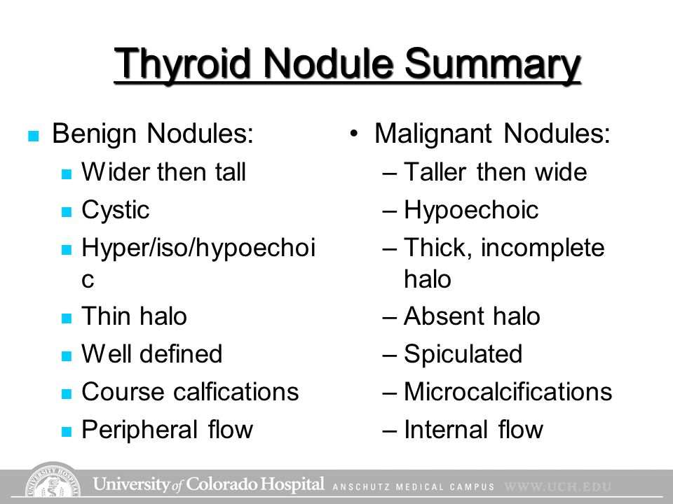 Thyroid Nodule Summary
