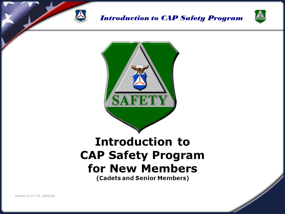Introduction to CAP Safety Program (Cadets and Senior Members)