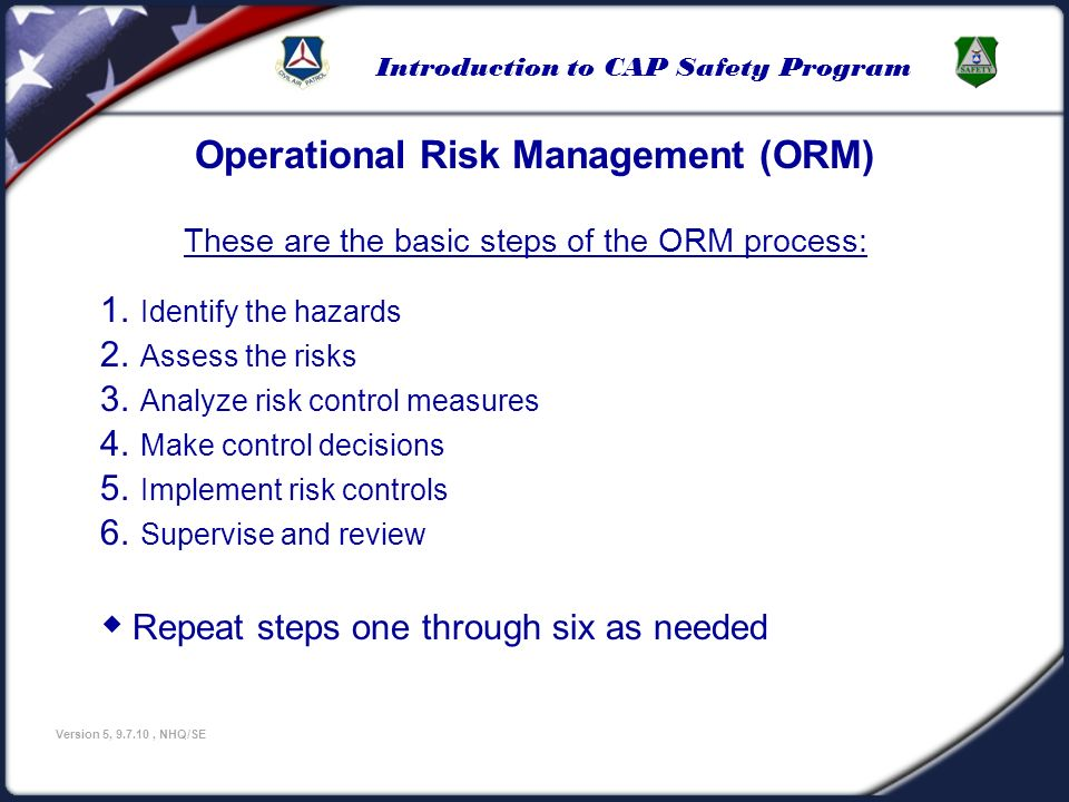 These are the basic steps of the ORM process: