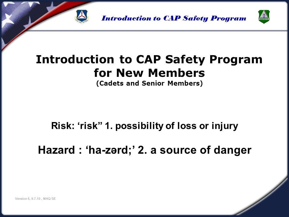 Introduction to CAP Safety Program for New Members