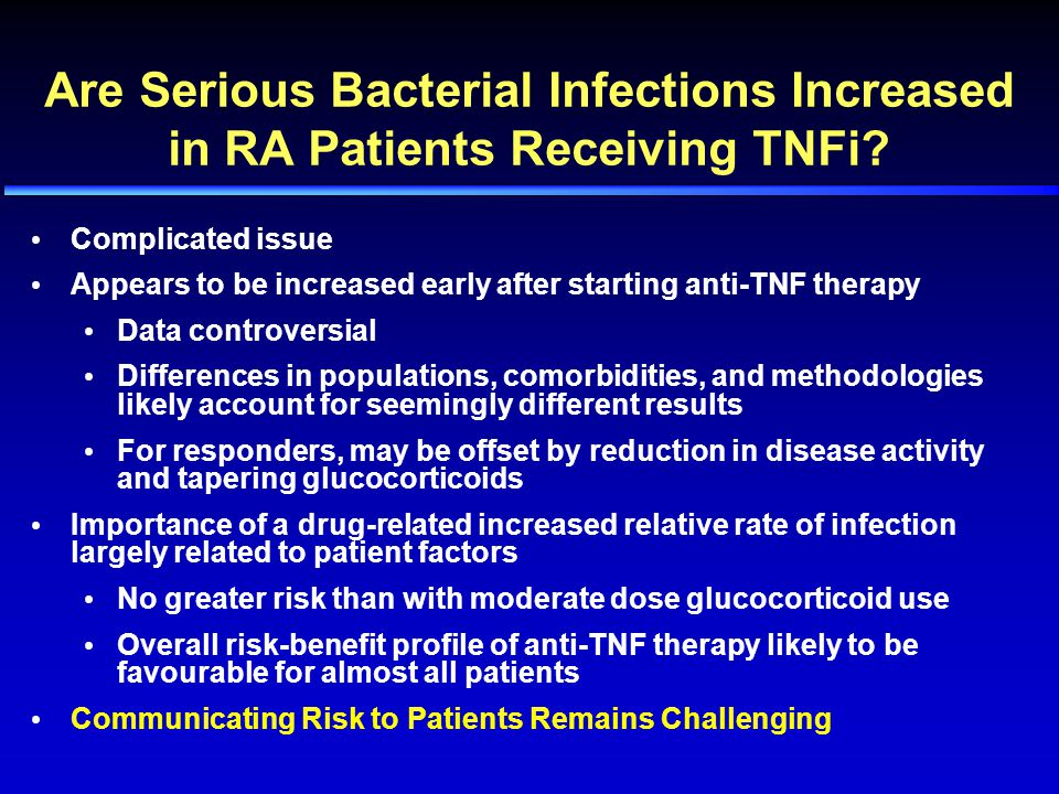 Are Serious Bacterial Infections Increased in RA Patients Receiving TNFi