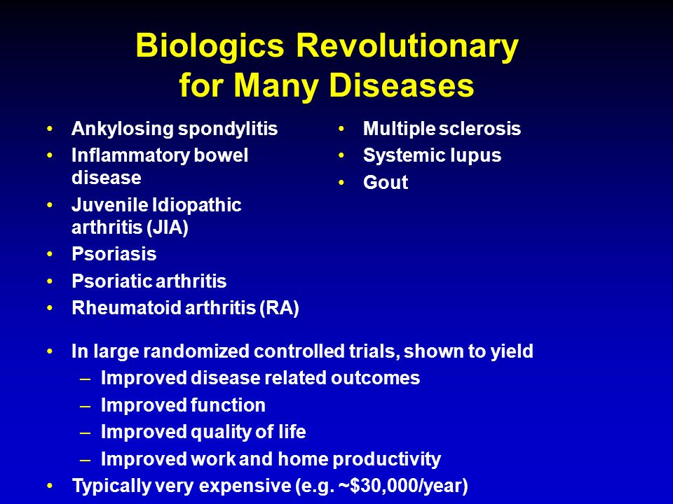 Biologics Revolutionary for Many Diseases