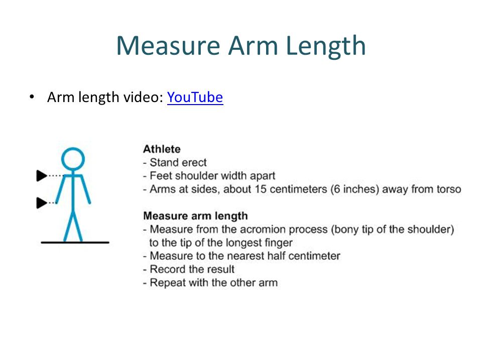 Measure Arm Length Arm length video: YouTube