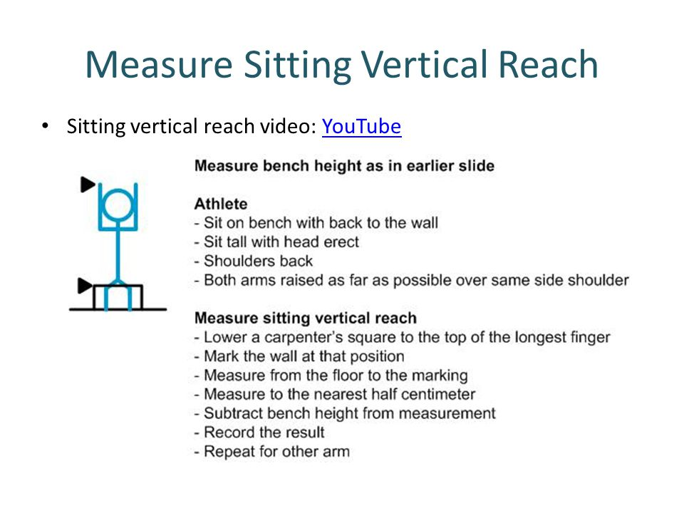 Measure Sitting Vertical Reach