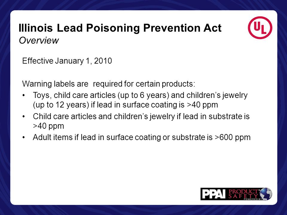 Illinois Lead Poisoning Prevention Act Overview