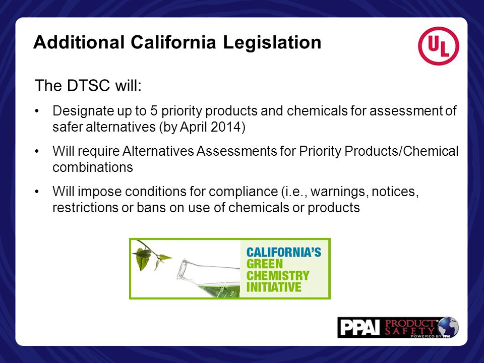 Additional California Legislation