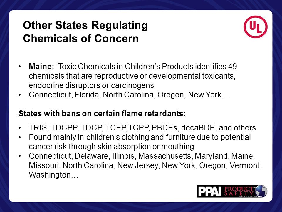 Other States Regulating Chemicals of Concern