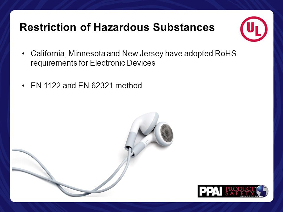 Restriction of Hazardous Substances