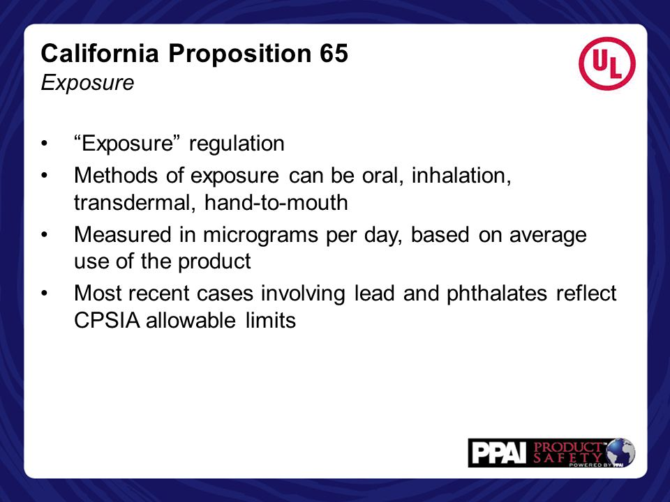 California Proposition 65 Exposure