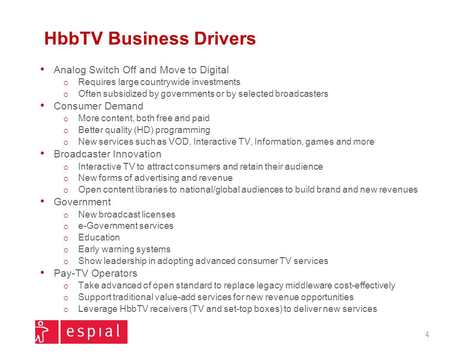 Agenda Overview Business Drivers Adoption Devices Features