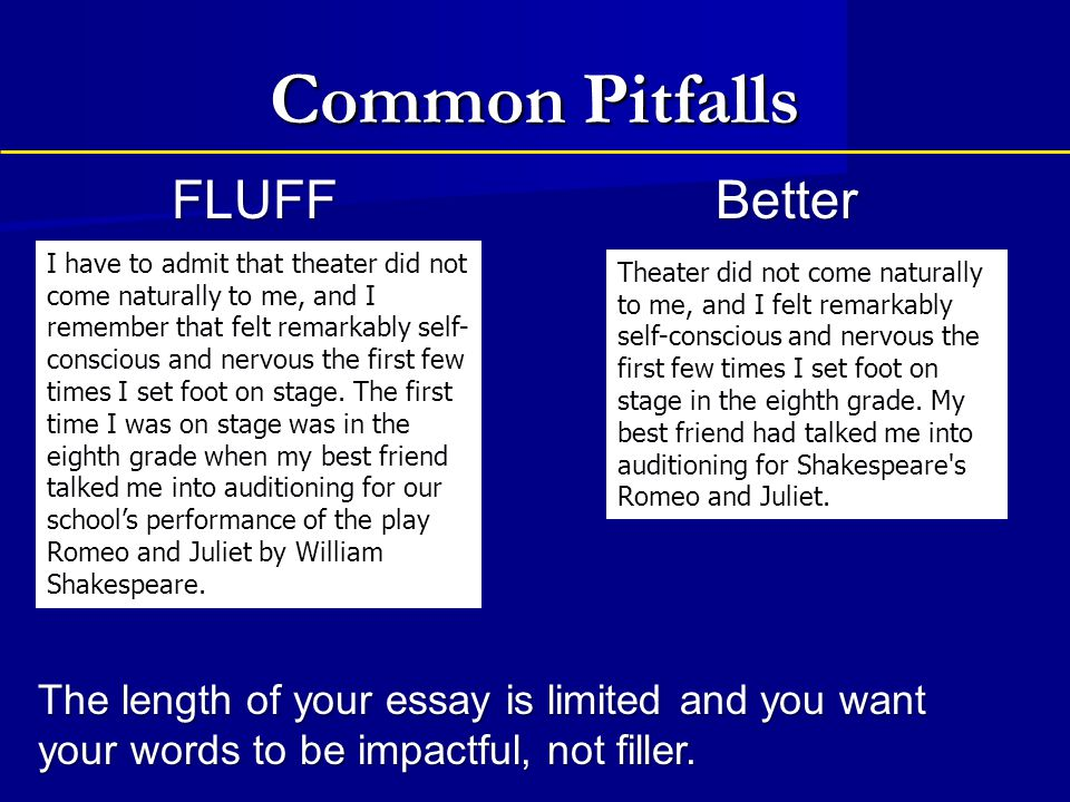 Common Pitfalls FLUFF Better