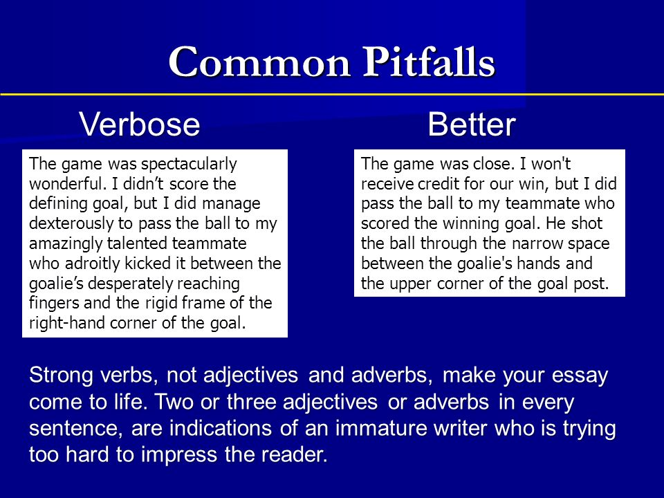 Common Pitfalls Verbose Better