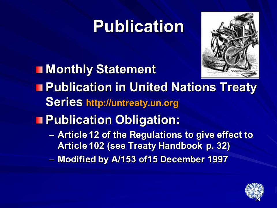 Publication Monthly Statement