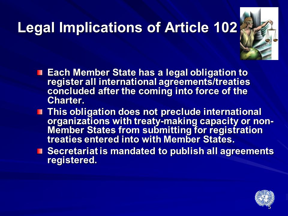 Legal Implications of Article 102