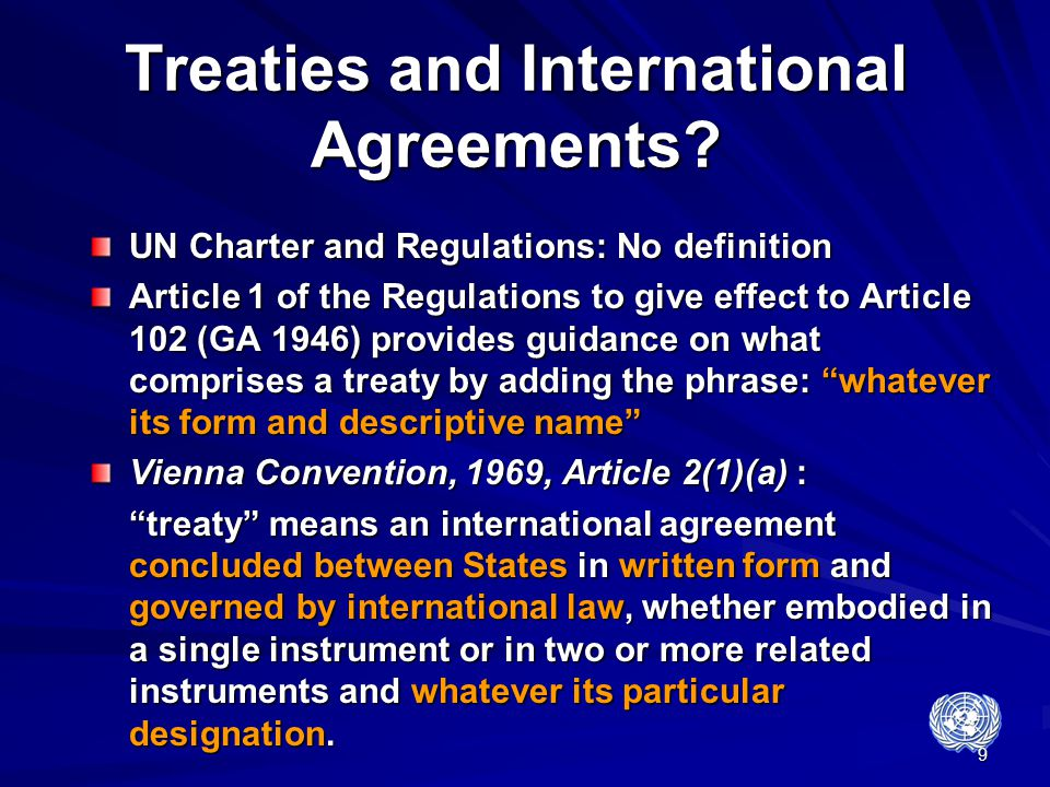 Treaties and International Agreements