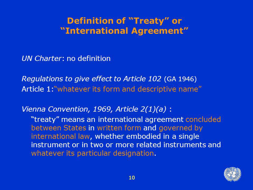 Registration Of Treaties Under Article 102 Of The Ppt Video Online