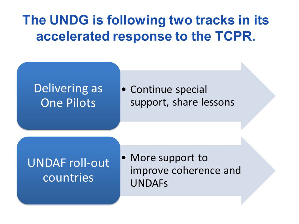 Delivering as One Pilots UNDAF roll-out countries