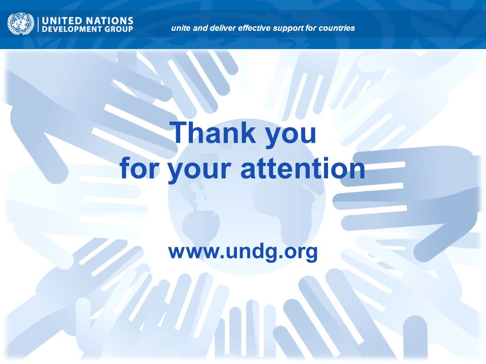 Thank you for your attention www.undg.org