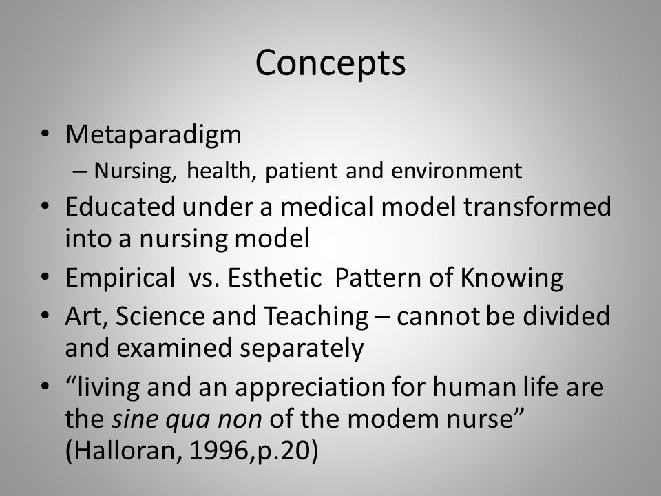 Concepts Metaparadigm