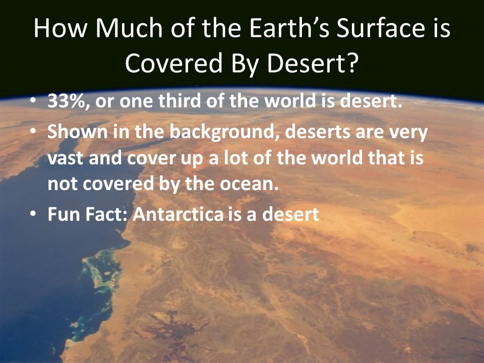 How Much of the Earth's Surface is Covered By Desert