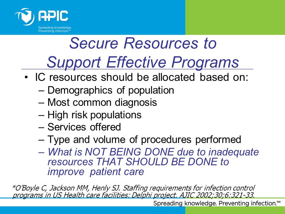 Secure Resources to Support Effective Programs