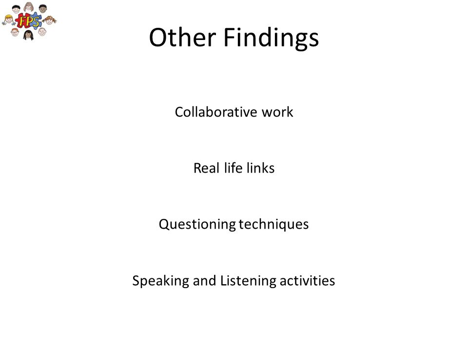 Other Findings Collaborative work Real life links