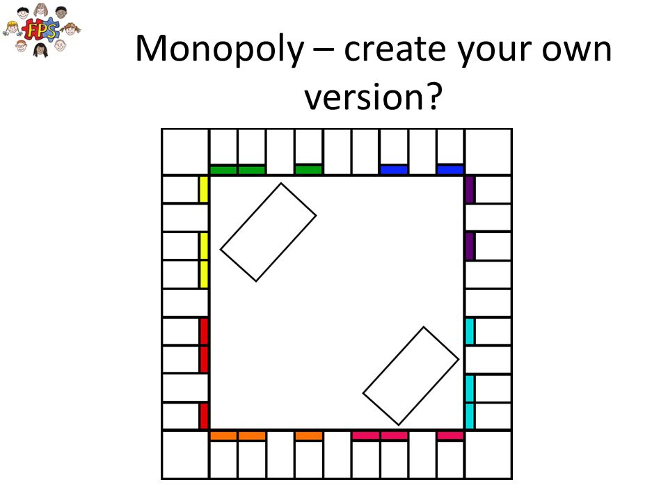 Monopoly – create your own version