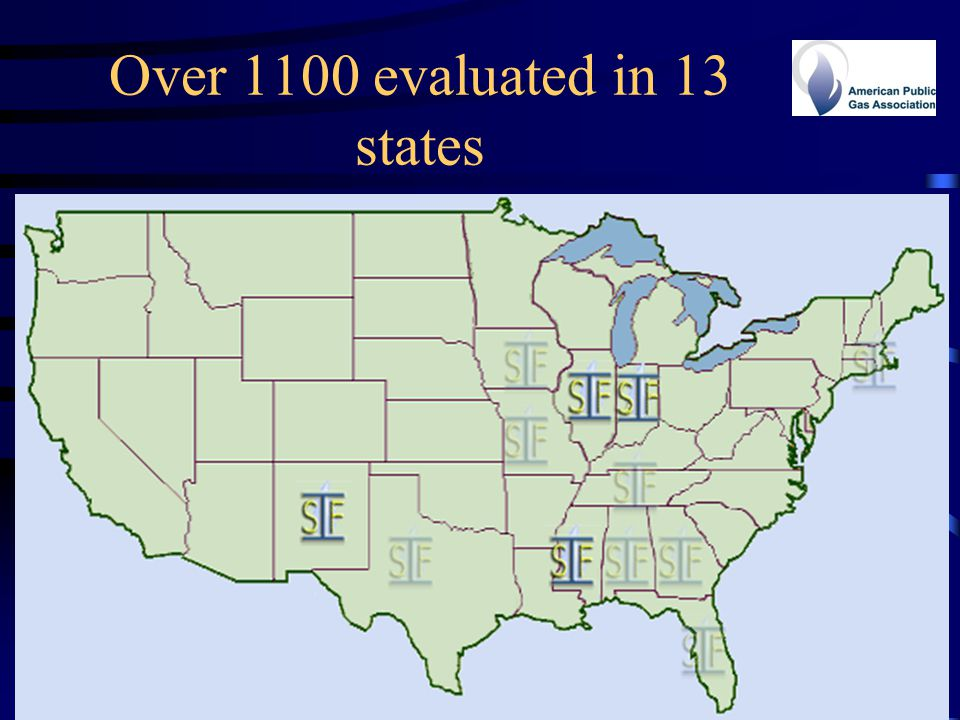 Over 1100 evaluated in 13 states